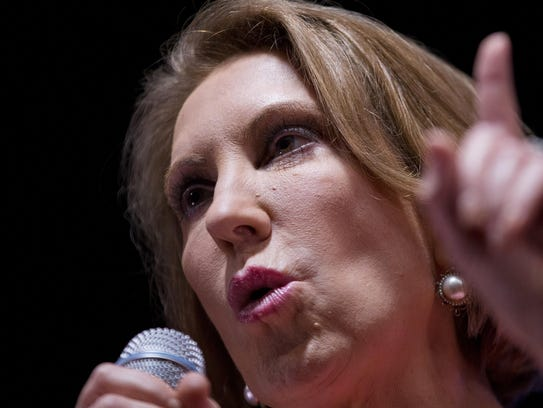 Republican presidential candidate Carly Fiorina speaks