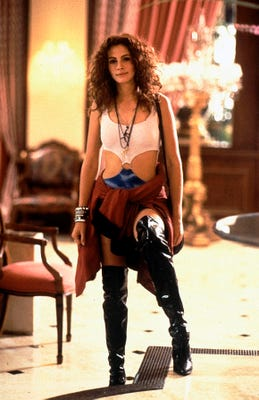 Julia Roberts in her thigh-high boots in