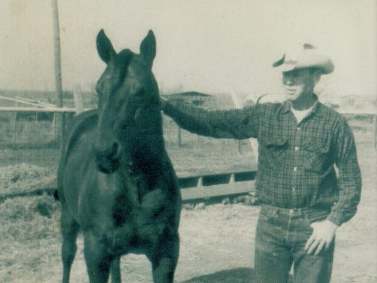 Courtesy photo Windy Daniel was the first of the Daniel brothers to go to work at the Waggoner Ranch. He started in 1949 and worked as a cowboy at the ranch until1973.