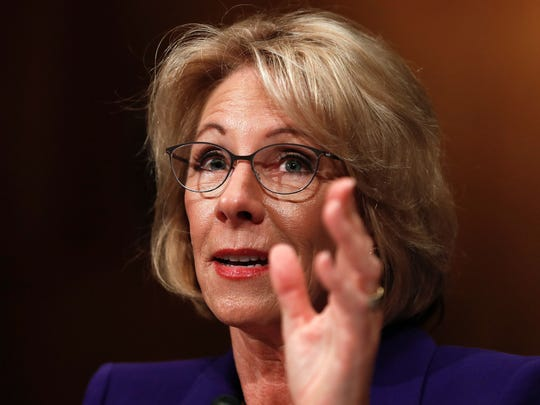 Education Secretary Betsy Devos has rescinded Obama-era guidelines on investigating allegations of sexual assault on college and university campuses, saying the process was unfair to the accused.
