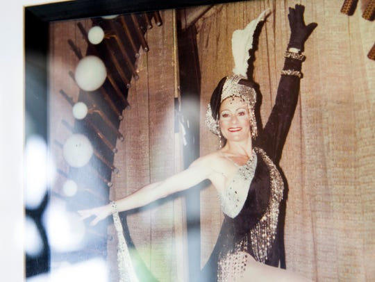 A photo of Eileen Collins from her days as a Rockette.