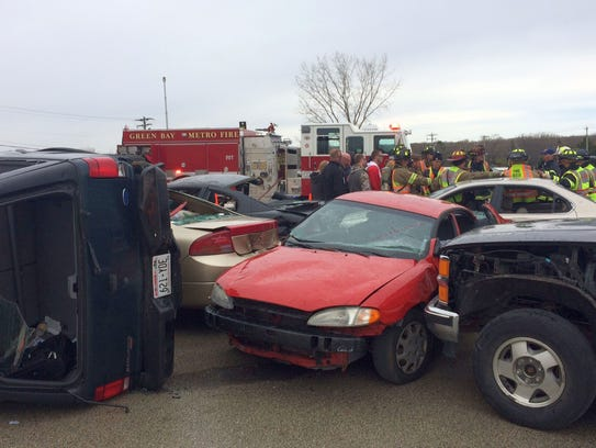 Crews from the Green Bay Metro Fire Department wrap