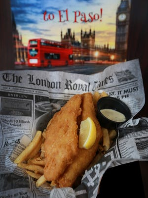 The Fish and Chips are a favorite at London Grill, a classic London double-decker-bus-turned-restaurant at the corner of Mesa Street and Balboa Road.