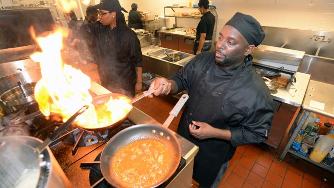 Chef Darrell Johnson leads the kitchen at the Crescent City Bistro.