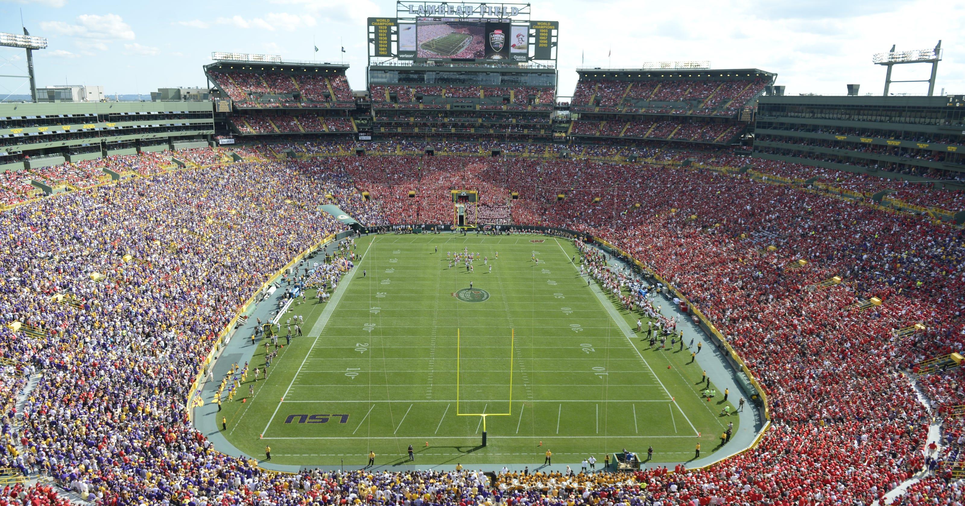 Football Trumps Concerts At Lambeau Field