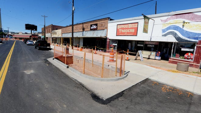 FILE PHOTO: Downtown Bossier City is pictured during construction in September 2016.