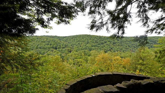 The Gorge Overlook is one of the most popular attractions at the Mohican-Memorial State Park.