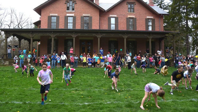 Due to weather and soggy ground, the Hayes Easter Egg Roll activities usually held outdoors will be moved inside the museum on Saturday, March 31.