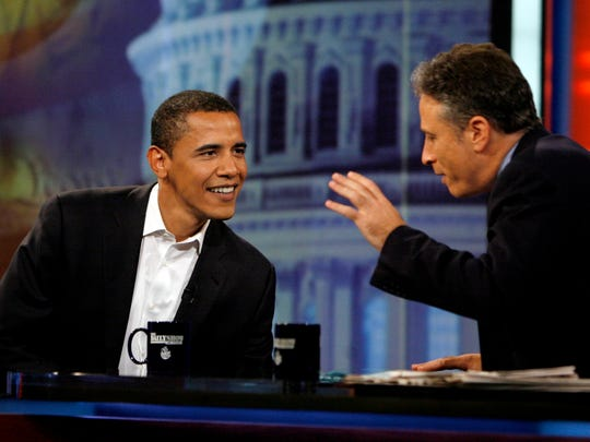 President Obama shoots the breeze with Jon Stewart