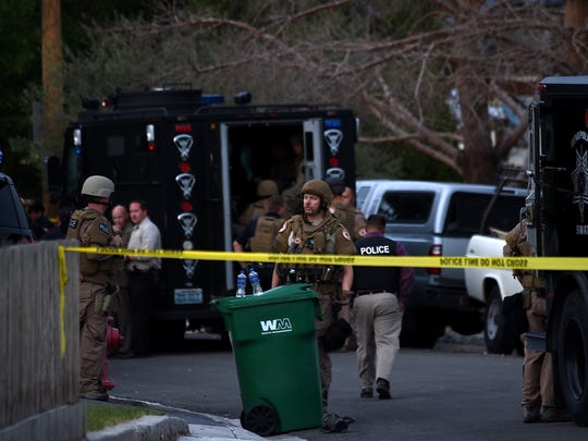 Reno Police respond to a shooting in Stead on Oct.