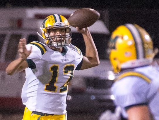 Mayfield quarterback Torry Locklin looks to lead the