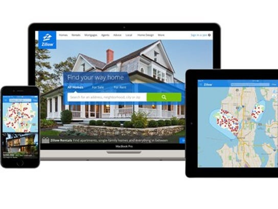 Zillow website and apps running on multiple mobile devices