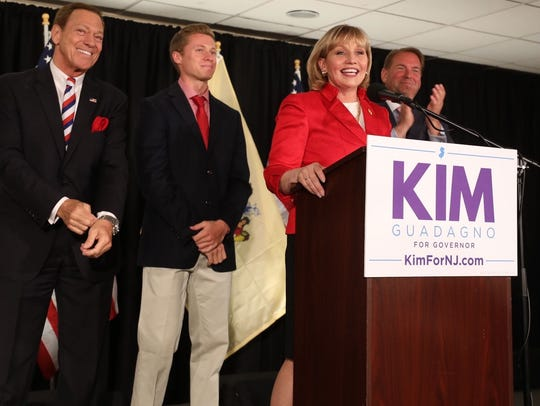 Lt. Gov. Kim Guadagno speaks after winning the N.J.