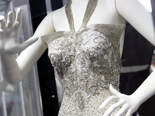 GABE HERNANDEZ/CALLER-TIMES Selena Quintanilla Perez wore this dress, which she bought in Houston, at the Grammys.