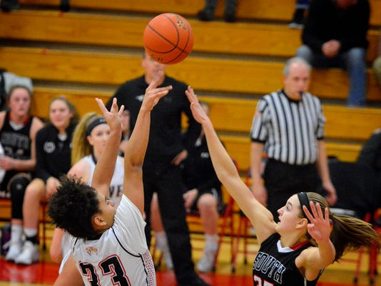 Southwestern at Dover girls' basketball