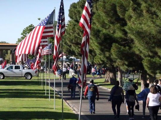 A Memorial Day ceremony was held at Fort Bliss National Cemetery.