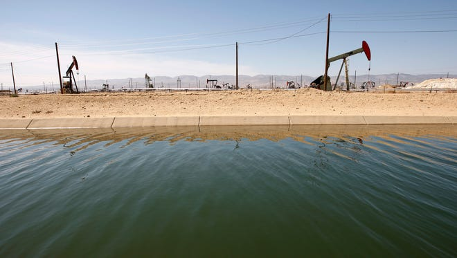 Fracking, seen on the coast of California, can have severely negative effects on the ecosystem.
