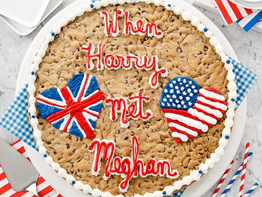 "The Mrs. Fields ""When Harry Met Meghan"" big cookie"