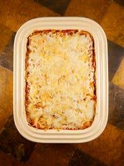 Eggplant and Basmati casserole with Mozzarella and