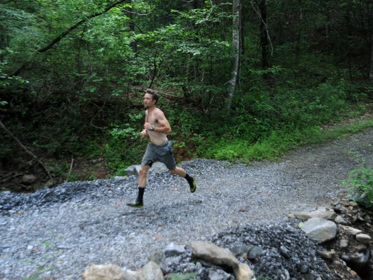 Matthew Sand prepares for his second Spartan Race in