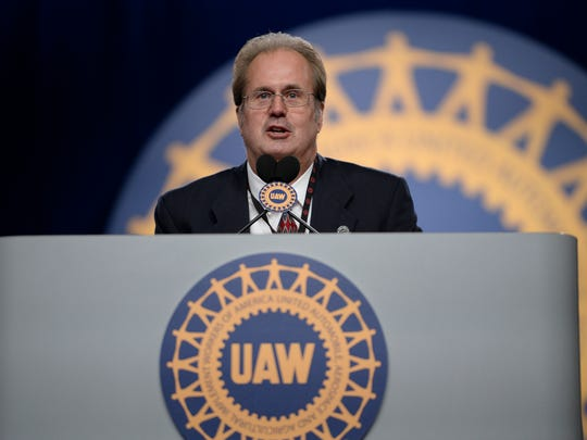 Gary Jones, new UAW president, gives his first speech