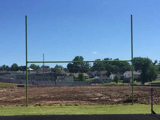 The new football stadium at East Nashville High is
