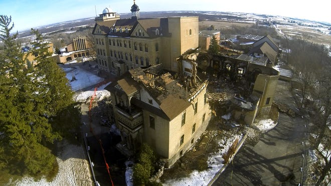 A March 8, 2014, fire at St. Lawrence Seminary in Mount Calvary destroyed historic St. Joseph Hall and caused millions of dollars in damage.