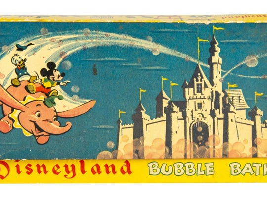 With a starting bid of $50, the bubble bath (complete with nine packets of soap) is among the most affordable items in the Disneyland auction.