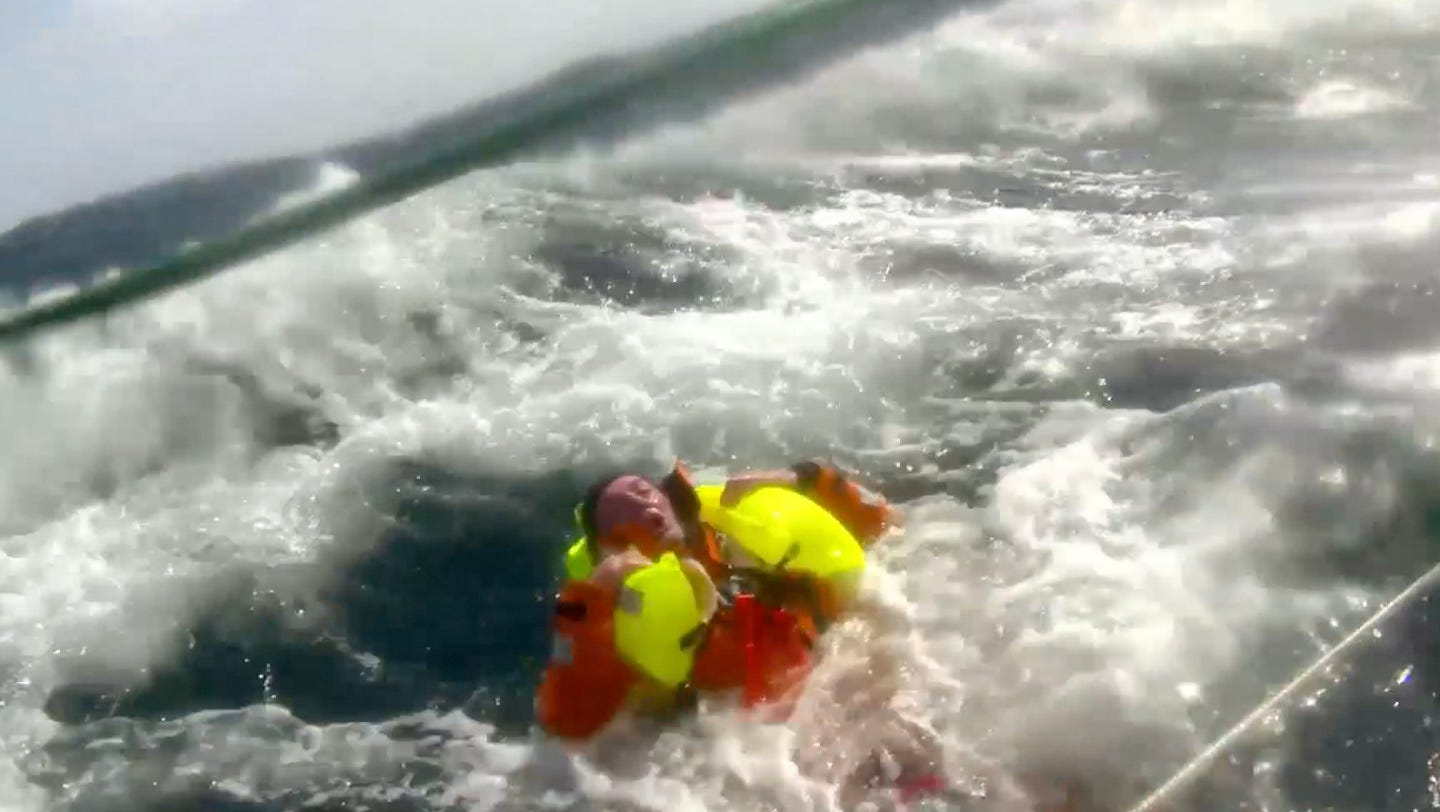 Sailor Who Fell Overboard Says He S Lucky To Be Alive