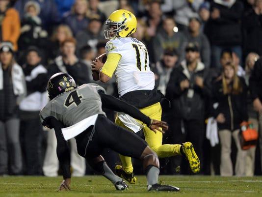NCAA Football: Oregon at Colorado