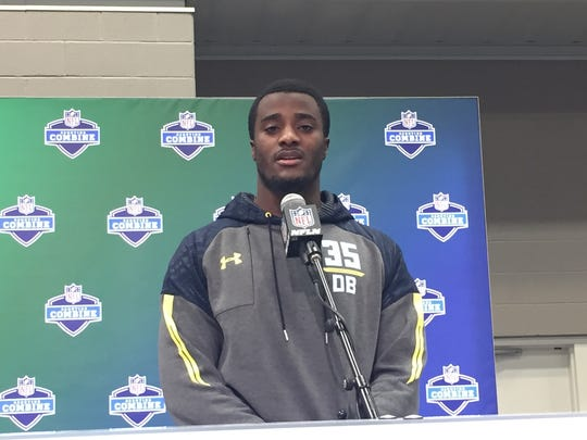 Former Michigan cornerback Jourdan Lewis at the NFL