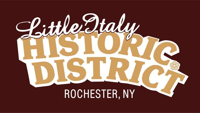 A draft logo for the proposed Little Italy district along Lyell Avenue in Rochester.