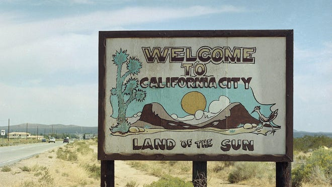 A welcome sign just outside California City, Calif. graces the outskirts of the Mojave Desert community, Monday, Oct. 19, 1998.