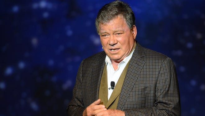 """Actor William Shatner performs during his one-man show, """"Shatner's World: We Just Live In It"""" at the MGM Grand Hotel/Casino on June 19, 2014, in Las Vegas."""