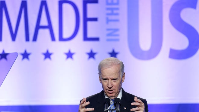 Vice President Biden addresses the annual conference of the Export-Import Bank in April.