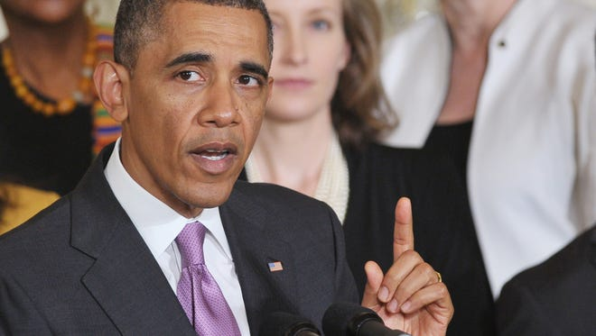 President Obama at a White House health care event in May.