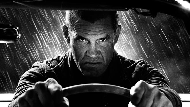 """Shades of gray: Josh Brolin in """"Sin City: A Dame to Kill For."""""""
