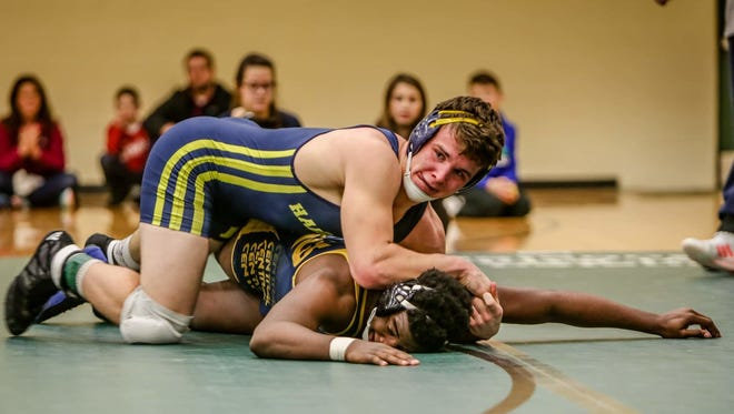 Hartland's Andrew Spisz made the state semifinals in the 189-pound bracket on Saturday, where he lost to Grandville's top-ranked Ryan Vasbinder, 2-1.