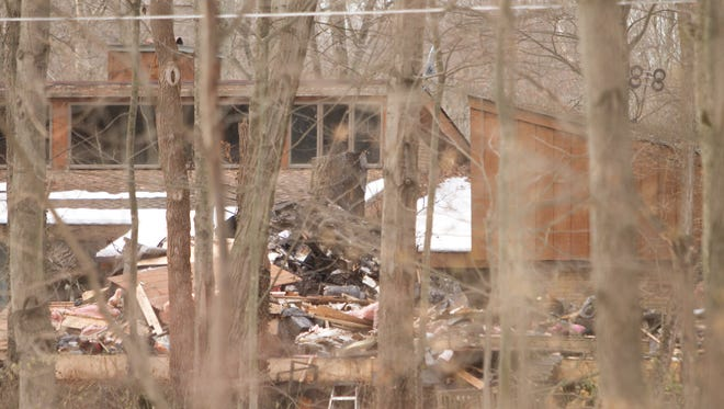 One person was found dead after a fire in a secondary home on property in the 5700 block of Tipsico Lake Road in Hartland Township Tuesday, Dec. 19, 2017.