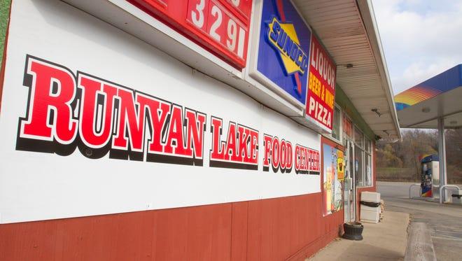 Runyan Lake Food Center on Hartland Road in Tyrone Township was robbed at gunpoint Friday night.