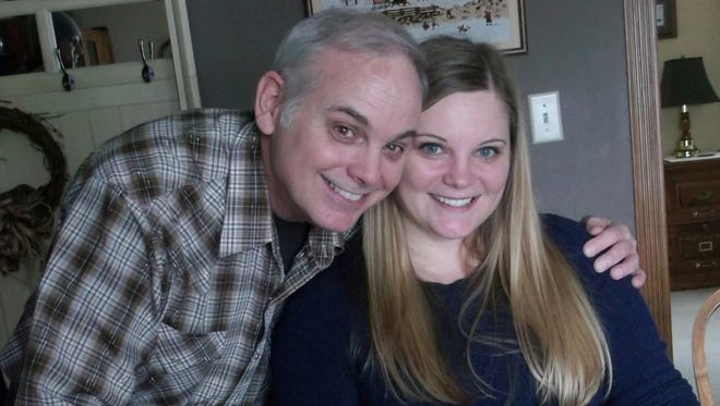 Amanda Anderson, 35, of Madison, met her biological father, Randy Jones, 58, of Hewitt for the first time on Jan. 28.