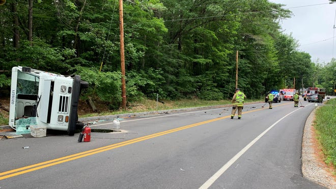 Authorities closed Route 108 in Durham for about an hour Sunday morning after a two-vehicle accident involving a mail truck. Nobody in either vehicle was seriously hurt.