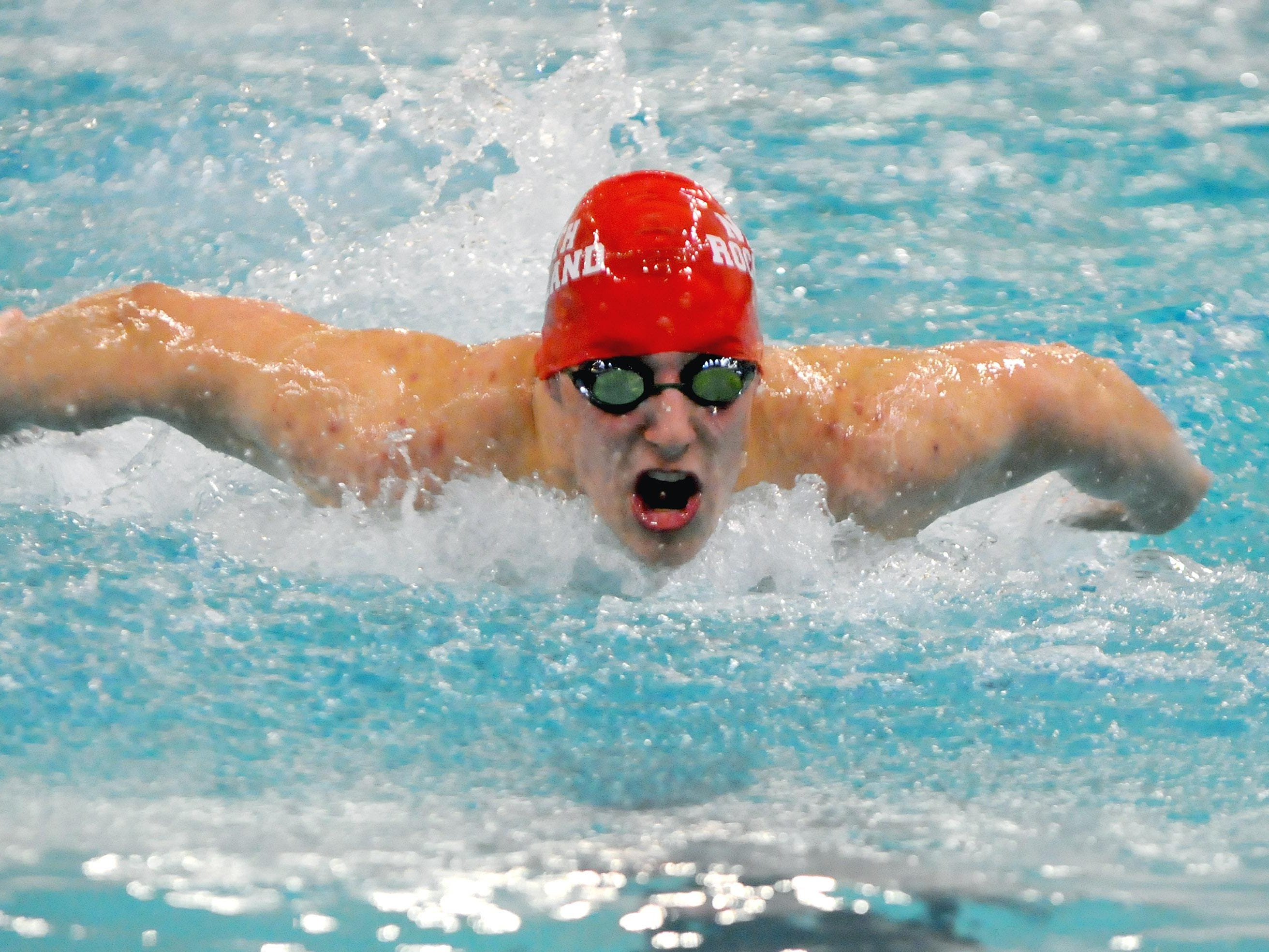 North Rockland's Matthew Zugibe placed second in the championship heat of the 200-yard IM at the 2016 NYSPHSAA Swim Meet at Erie Community College's Flickinger Center in Buffalo on Saturday.