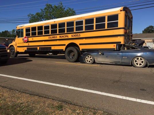 Toyota Jackson Ms >> Driver survives running car under school bus