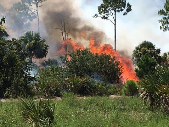 Merritt Island refuge fire