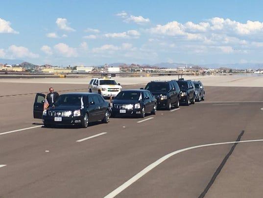 President Donald Trump at Phoenix Sky Harbor Airport