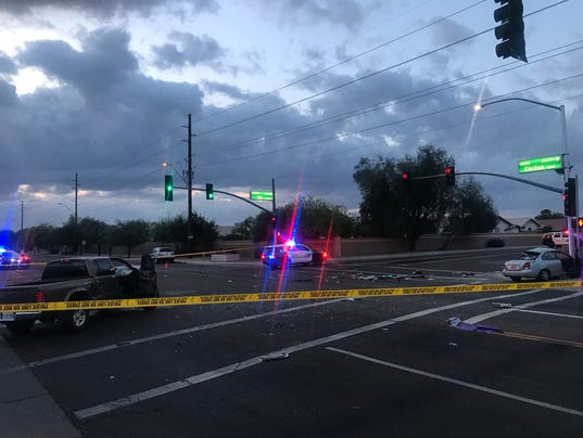 Crash at Cactus Road and 87th Avenue