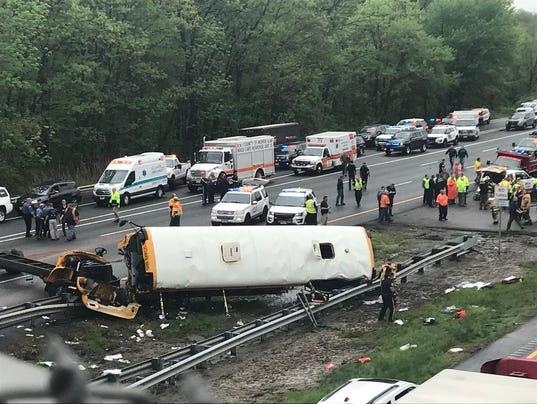 School bus crash Mount Olive