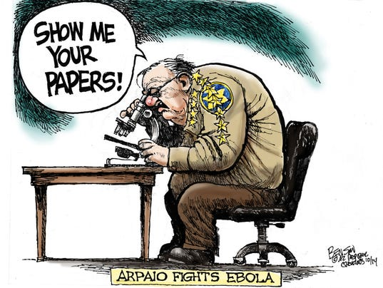 Image result for cartoon of joe arpaio