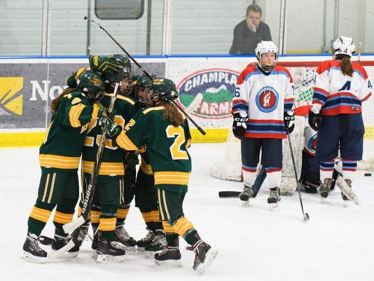 BFA St. Albans vs. MMU-CVU Girls Hockey 02/24/18